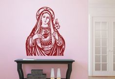 Virgin Mary Wall Decal - Christian Vinyl Sticker