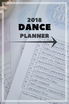 One of the best ways to help achieve your dances goals in 2018 -- write them down. Print out this free checklist to write down your plans + dreams for dance.