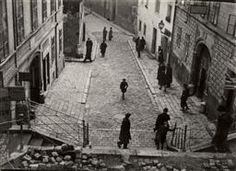 Jewish Life in Eastern Europe, ca. 1935-38 | Roman Vishniac Archive [Meeting point of the high and low streets in the Jewish quarter, Bratislava]