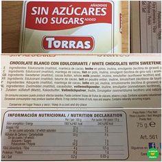 💁🏼CHOCOLATE BLANCO SIN AZÚCARES AÑADIDOS @chocolatestorras.  .  👉🏻POLIALCOHOLES.  .  📝Supermercado: @carrefoures.  💵P.V.P: 1,32 euros.  .  📸 @belona014.  .  #lacestadefranitacarrefour #healthyfranita #follow #followme #like4like #basicos #supermercado #chocolateblanco