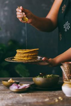Makki Roti - Gluten Free Indian Flatbread Gluten Free Flatbread, How To Thicken Soup, Tortilla Press, Saag, Food Photography Styling, Food Styling, Indian Food Recipes, Food Inspiration, Yummy Food