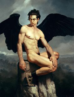kyle-marffin:  Dark-Winged Angels: Roberto Ferri Sumptuous oil paintings by…