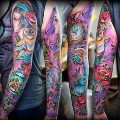 The main reason being that full sleeve tattoo designs occupy the whole of your arm and gives a large canvas to etch a themed design. Description from top10designsideas.com. I searched for this on bing.com/images