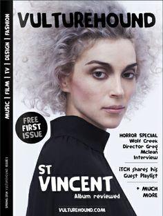 #magazine #cover #vulturehound #stvincent