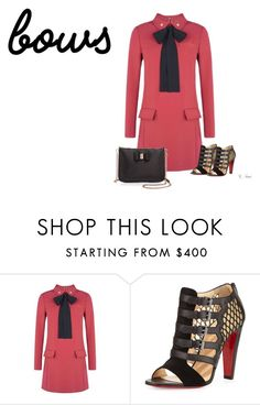 """Put a bow on it!"" by ksims-1 ❤ liked on Polyvore featuring RED Valentino, Christian Louboutin and Ted Baker"