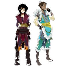 Water and fire bender styles.