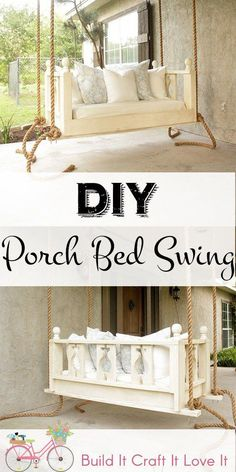 Fine Woodworking Ideas DIY Proch Bed Swing - Build It Craft It Love It - Free Plans for this beautiful porch bed swing! Woodworking Ideas DIY Proch Bed Swing - Build It Craft It Love It - Free Plans for this beautiful porch bed swing! Easy Woodworking Projects, Popular Woodworking, Woodworking Furniture, Woodworking Plans, Woodworking Workshop, Woodworking Classes, Woodworking Patterns, Woodworking Shop, Woodworking Basics