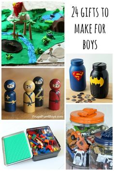 Handmade Gift Ideas for Boys Whether you simply enjoy crafting or need to save some cash this Christmas season, it's fun to give something that has a handmade touch rather than buying yet another toy in plastic packaging. Here are 24 ideas for homemade g Homemade Christmas Gifts, Handmade Christmas, Christmas Diy, Homemade Gifts For Men, Christmas Items, Diy For Kids, Crafts For Kids, Diy Cadeau Noel, Navidad Diy