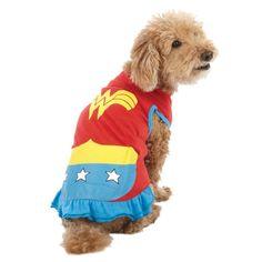 superhero costumes for dogs   Howloween - Pet Superhero Costumes - Wonder Woman