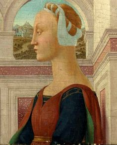 Portrait of a lady,c.1450 by Piero della Francesca - Italian Hair Taping