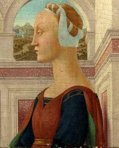 Portrait of a lady,c.1450 by Piero della Francesca - Italian Hair Taping