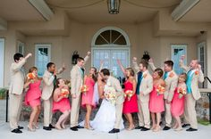 This wedding is sweet, and lovely, and filled to the brim with turquoise and coral wedding ideas! Just imagine for a moment that gorgeous color combination!