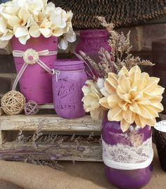 LOve IT! I know I did jars for my wedding but these are so cute!