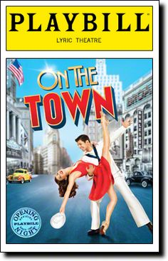 On the Town Limited Edition Official Opening Night Playbill (2014 Revival) $10.00