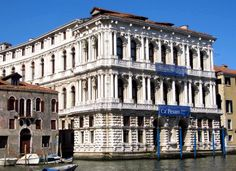 The Ca' Pesaro is a Baroque marble palace facing the Grand Canal of Venice, Italy, photo by Attilios.