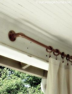 Pvc pipe painted copper!!