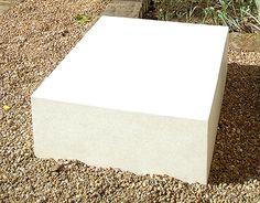 cast concrete sculpture plinth, white concrete. UK Rose Arbor, Concrete Sculpture, White Concrete, Furniture Making, Interior And Exterior, Decorative Boxes, It Cast, Home Decor, Decoration Home