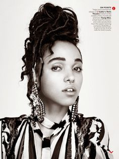 FKA Twigs shows off her killer septum ring in her Vogue spread, photographed by Patrick Demarchelier