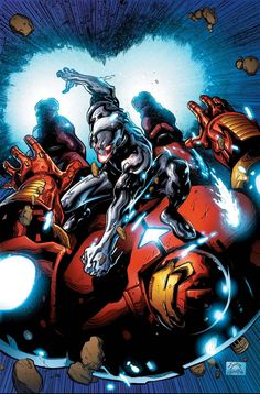 Ultron vs Hulkbuster by Ryan Stegman