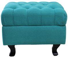 Puff Quadrado Verde com A45 x L50 x P50 - OnLine Atelier - Loja Virtual - (54) 9165-9726 - onlineatelier@hotmail.com .