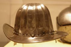 Helmet in the shape of a civilian hat. Higgins Armour Museum
