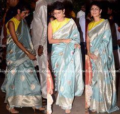 In Raw Mango - High Heel Confidential Half Saree Designs, Fancy Blouse Designs, Saree Blouse Designs, Saree Gown, Banarsi Saree, Lehenga, Indian Dresses, Indian Outfits, Indian Clothes