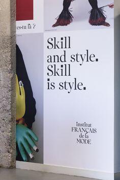 Institut Français de la Mode — Strategy, Branding & Digital by Base Design  #fashion #fashiondesign #institutfrancaisdelamode #paris #branding #fashionschool #typedesign #customtypeface #serif #basedesign Student Fashion, School Fashion, Window Signage, New Tone, Tone Of Voice, France, The New School, Paris, E Design