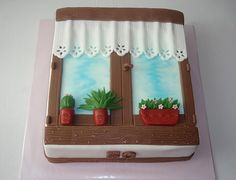 Cute sheet cake!