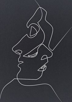 Ideas for doodle art ideas sketches products Art Sketches, Art Drawings, Drawing Faces, Contour Drawings, Portrait Sketches, Kiss Illustration, Art Illustrations, Minimal Art, Couple Art