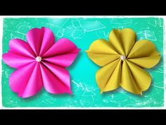 Paper flower/DIY/Easy Paper Flowers - YouTube How To Make Paper Flowers, Paper Flowers Diy, Flower Diy, Vj Art, Arts And Crafts, Paper Crafts, Tiny Flowers, Craft Work, Flower Making