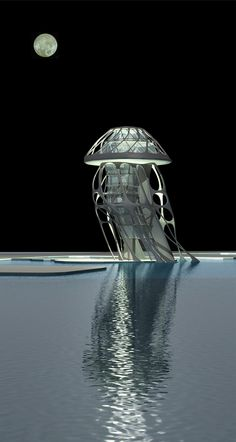 Jellyfish Hotel, Tianjin, China, 2009 by Michael Sorkin, via Behance