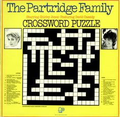 For Sale - The Partridge Family Crossword Puzzle UK  vinyl LP album (LP record) - See this and 250,000 other rare & vintage vinyl records, singles, LPs & CDs at http://eil.com