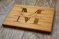 Personalized Cutting Board Wedding Gift by OurCuttingBoard on Etsy