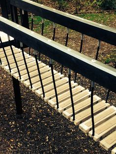 Buff Decking Strips, Applied to children's play areas - Providing extra safety for all ages.