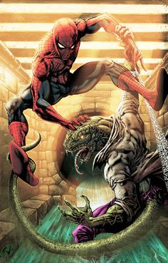 Spider-Man vs. The Lizard by Rudy Vasquez and Goran Kostadinoski