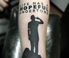 Image result for life has a hopeful undertone tattoo