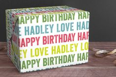 Colorful Birthday Personalized Wrapping Paper