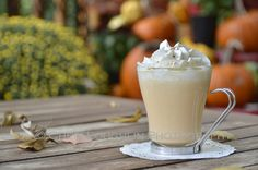 Pumpkin Pie White Hot Chocolate uses white chocolate chips, heavy whipping cream, half & half, RumChata, pumpkin, pumpkin pie spice and whipped cream. Make it for adults or change it up a little for those wishing for non-alcoholic enjoyment. This makes a great tailgate recipe or relaxing fireside sipper. {recipe and photo credit: Mixologist Cheri Loughlin, The Intoxicologist. www.intoxicologis...