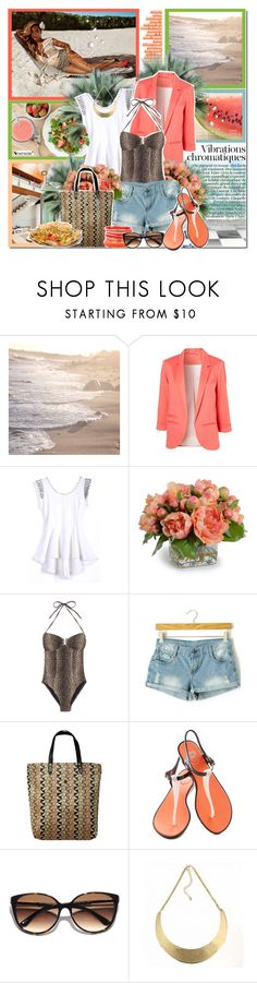 """Beyonce for H&M"" by ellchy89 ❤ liked on Polyvore featuring PLANT, H&M, New Growth Designs, Melissa Odabash, Scotch & Soda, Mel by Melissa and Kate Spade"