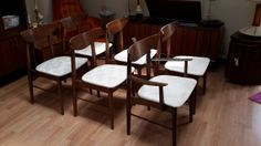 6 Boomerang Chairs by Stanley Furntiture Co. 5 side by MODMAKESIT, $1999.00 $$$OLD$$$