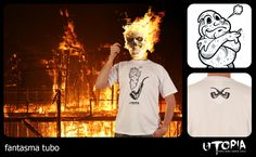 http://www.facebook.com/UtopiaLux  Unusual tshirt design.  #night #rider #tshirt #fire #flames #pipe #design #lookbook #sick #funny #utopia #smoking #marihuana #joint