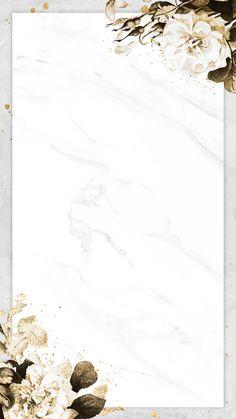 Marble textured rectangle frame mobile phone wallpaper vector | premium image by rawpixel.com / NingZk V. Flower Background Wallpaper, Framed Wallpaper, Flower Backgrounds, Textured Wallpaper, Iphone Wallpaper, Rose Frame, Flower Frame, Color Concept, Fond Design