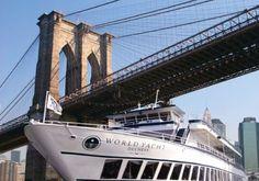 Bruncher sur un yacht Destinations, Brooklyn Bridge, Marina Bay Sands, Building, Travel, Places To Travel, Buildings, Viajes, Viajes