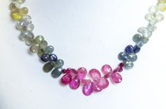 Multicolored Sapphire Necklace $450.00 http://www.etsy.com/listing/173254772/multicolored-sapphire-necklace?ref=shop_home_active