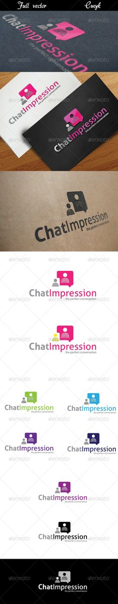 Chat Impression — Vector EPS #online #forum • Available here → https://graphicriver.net/item/chat-impression/2442250?ref=pxcr