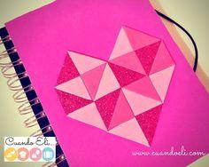 Libreta Decorada con Corazón Geométrico #Recordamos http://blgs.co/m0V8l5