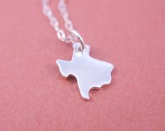 Tiny Texas Necklace Sterling Silver State Charm by amandadeer