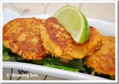 Thai Crab Cakes | Slimming Eats - Slimming World Recipes