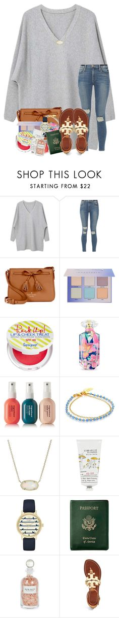 """""""lots of loveee // rtd"""" by legitmaddywill ❤ liked on Polyvore featuring MANGO, Frame, Kate Spade, Supergoop!, Victoria's Secret, Original & Mineral, Astley Clarke, Kendra Scott, Library of Flowers and Royce Leather"""