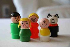 What my fisher price little people looked like as a child. Vintage Fisher Price, The Good Old Days, Little People, Vintage Toys, Childhood, Retro, Creative, Portraits, Wood